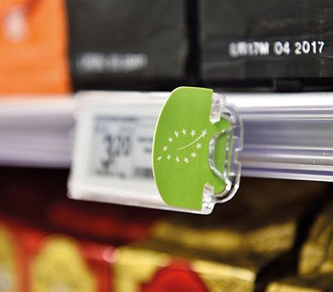 casse automatiche per negozi - etichette elettroniche