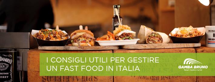 gestire un fast food in Italia