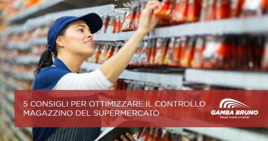 controllo magazzino del supermercato